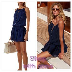 MELISSA ODABASH CHELSEA BEACH DRESS navy size XS